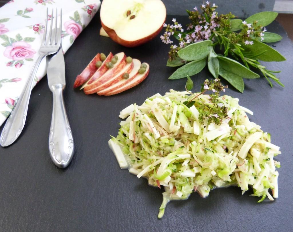 Zucchini-Lauch-Salat für das #BTK14