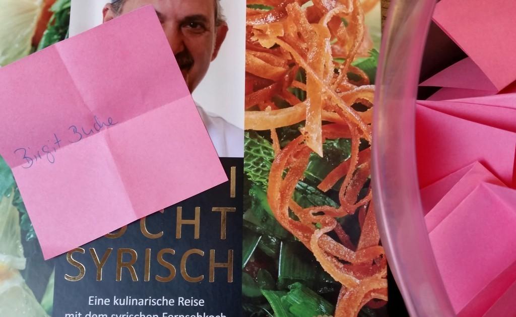 Kochbuch Gewinnspiel Blog Gewinnerin Auslosung