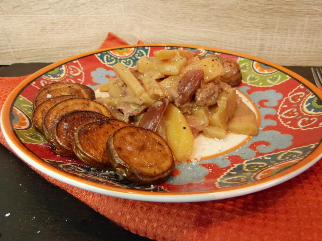 Kohlrabi mit Kartoffeln und Datteln